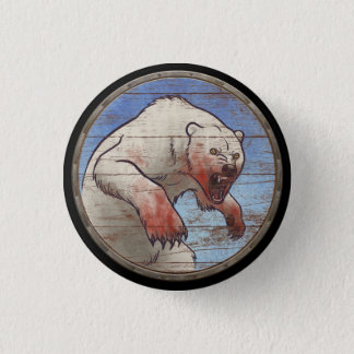 Viking Shield Button - Polar Bear