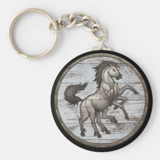 Viking Shield Keychain - Sleipnir