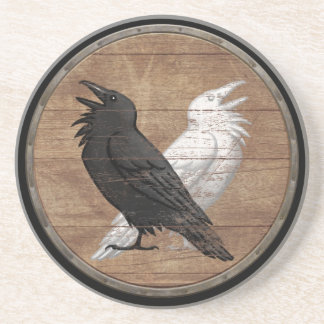 Viking Shield - Odin's Ravens Coaster