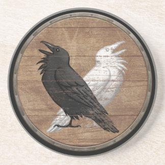 Viking Shield - Odin's Ravens Coaster
