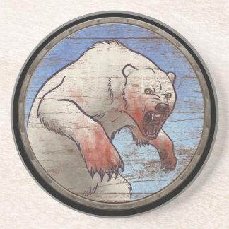 Viking Shield - Polar Bear Coaster