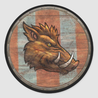 Viking Shield Sticker - Boar