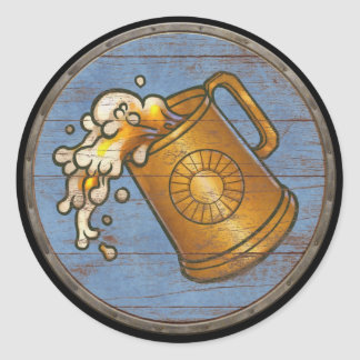 Viking Shield Sticker - Flowing Tankard