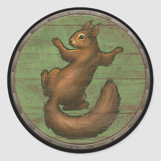 Viking Shield Sticker - Ratatoskr