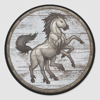 Viking Shield Sticker - Sleipnir