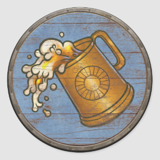 Viking Shield Sticker - Tankard
