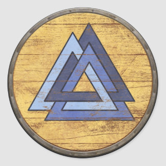 Viking Shield Sticker - Valknut
