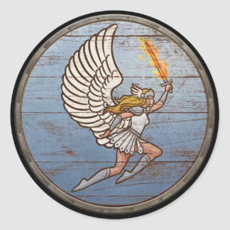 Viking Shield Sticker - Valkyrie