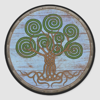 Viking Shield Sticker - Yggdrasil