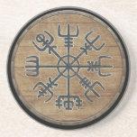 Viking Shield  - Vegvísir Beverage Coasters