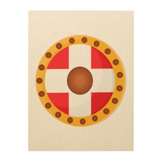 Viking Shield Wood Print