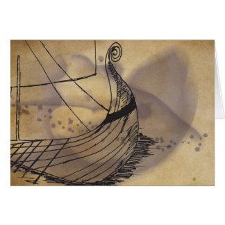 Viking Ship Barden Greeting Card