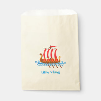 Viking Ship Cartoon Illustration Favour Bag