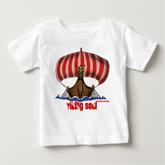 Viking ship funny baby t-shirt