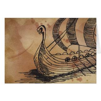Viking Ship Ormen Korte Greeting Card