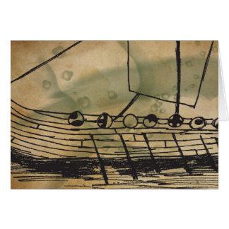 Viking Ship Ormen Lange Greeting Card