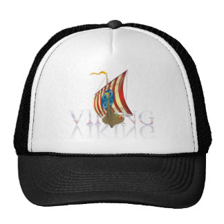 Viking ship reflecting on mysterious water hat