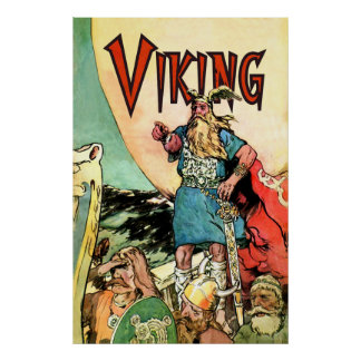 Viking Ship Thor Norseman Warriors Norse Poster