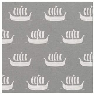 Viking ships/longboats w/custom background color fabric