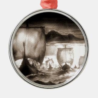 VIKING SHIPS METAL ORNAMENT