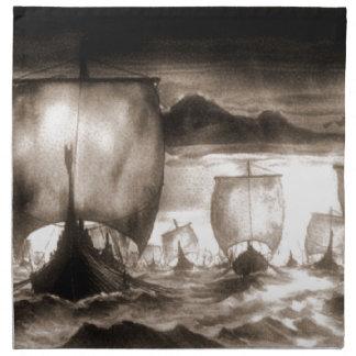 VIKING SHIPS NAPKIN