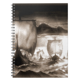 VIKING SHIPS SPIRAL NOTEBOOK