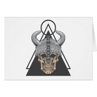 Viking Skull Card