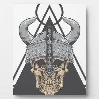 Viking Skull Plaque