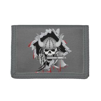 Viking Skull Tri-fold Wallets