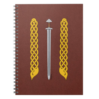 Viking Sword and Plaitwork Notebook