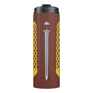 Viking Sword and Plaitwork Thermal Tumbler