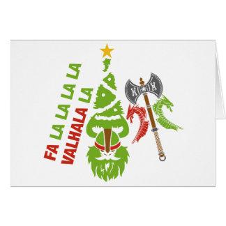 Viking Valhalla Christmas Holiday Card