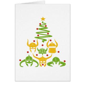 Viking Valhalla Christmas Tree Card
