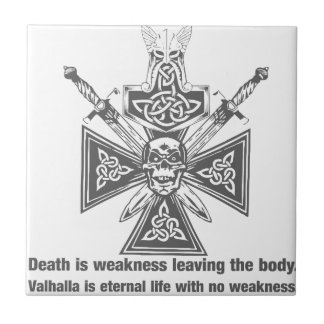 Viking Valhalla - Weakness Leaving The Body Small Square Tile