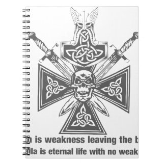 Viking Valhalla - Weakness Leaving The Body Spiral Notebooks