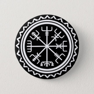 Viking Vegvisir Compass 6 Cm Round Badge