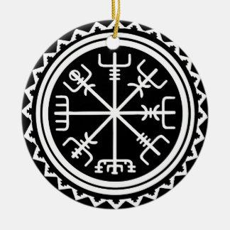 Viking Vegvisir Compass Ceramic Ornament