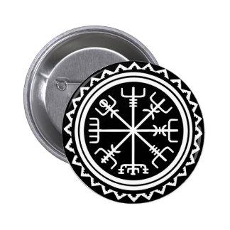 Viking Vegvisir Nautical Compass 6 Cm Round Badge