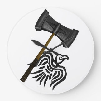 Viking War Hammer Thor Mythology Wallclock