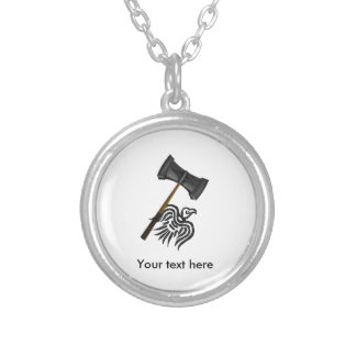 Viking War Hammer Thor Silver Plated Necklace