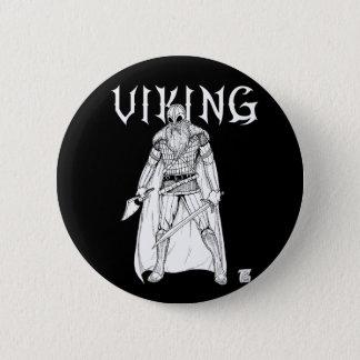 Viking Warrior 6 Cm Round Badge