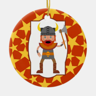 Viking Warrior Boy Birthday Party Ceramic Ornament