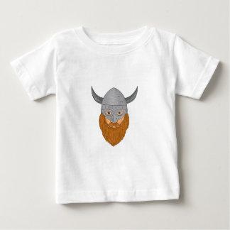 Viking Warrior Head Drawing Baby T-Shirt