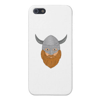 Viking Warrior Head Drawing Case For iPhone 5/5S
