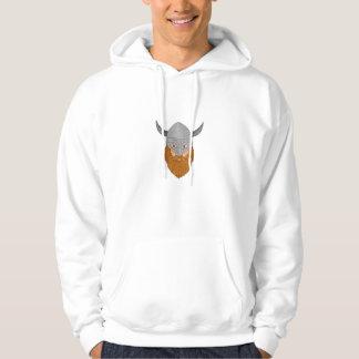 Viking Warrior Head Drawing Hoodie