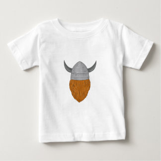 Viking Warrior Head Rear View Drawing Baby T-Shirt