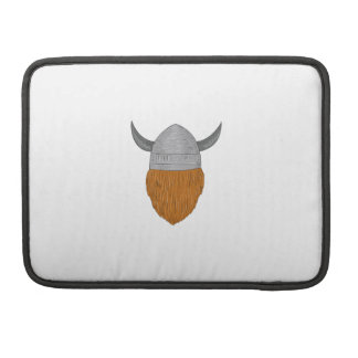 Viking Warrior Head Rear View Drawing Sleeve For MacBook Pro