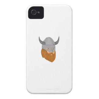 Viking Warrior Head Three Quarter View Drawing Case-Mate iPhone 4 Case