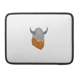 Viking Warrior Head Three Quarter View Drawing Sleeve For MacBook Pro