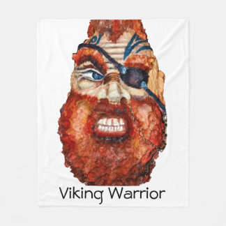Viking Warrior - realism painting Fleece Blanket